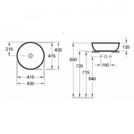 Lavoar Artis VILLEROY&BOCH 417943012