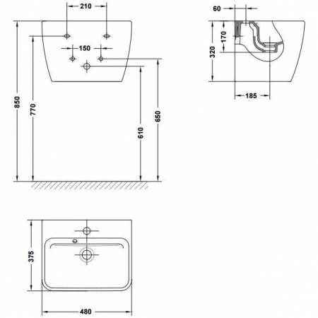 Lavoar Emma Gala 27075 48x37,5 cm [1]