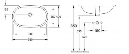 Lavoar O.Novo VILLEROY&BOCH 416260011