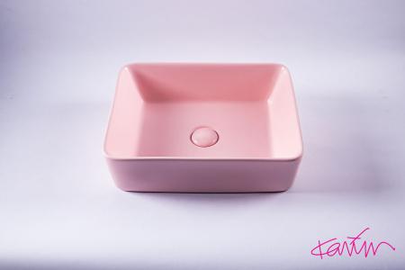 Lavoar Pure Color Roz mat cu ventil [2]