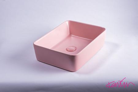 Lavoar Pure Color Roz mat cu ventil [3]