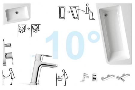 Cada Concept 10┬░ 160x95 Ravak snowwhite stanga/dreapta10