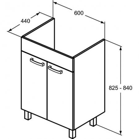 Set mobilier stativ și lavoar Tempo Ideal Standard 60 cm [3]