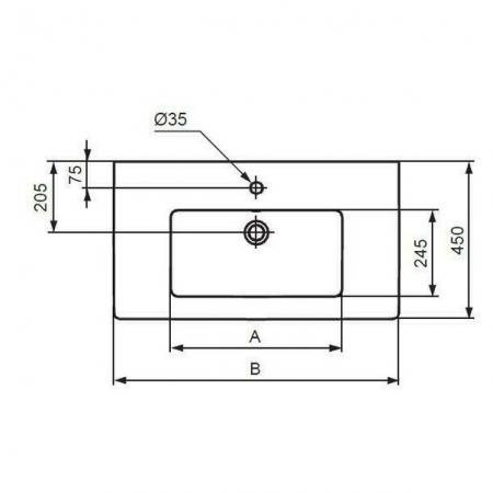 Set mobilier stativ și lavoar Tempo Ideal Standard 60 cm [6]