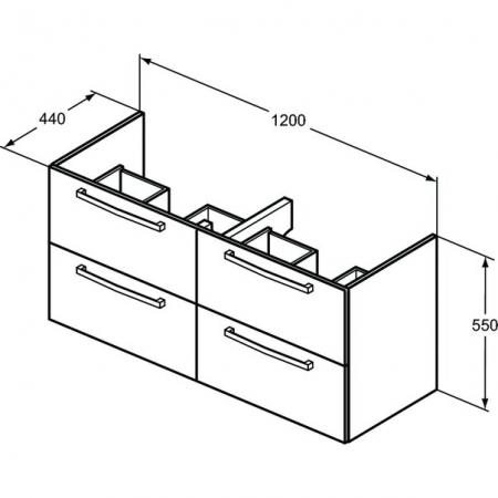 Sot mobilier suspendat și lavoar Tempo Ideal Standard 120 cm [1]