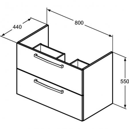Mobilier suspendat 80 cm Tempo Ideal Standard [2]