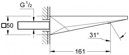 Pipa cada montare pe perete 13299000 Grohe Allure Brilliant [1]