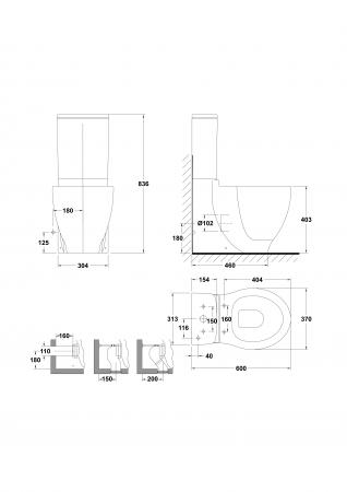 Rezervor WC Klea1
