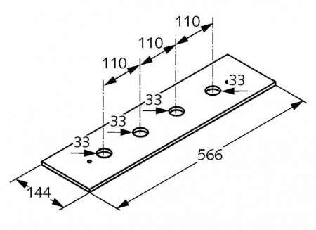 Set placa de montaj KLUDI vizibila in combinatie cu placa de montaj 76148 [1]