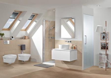 Set vas WC suspendat cu DIRECT FLUSH si capac soft close Architectura VILLEROY & BOCH [4]