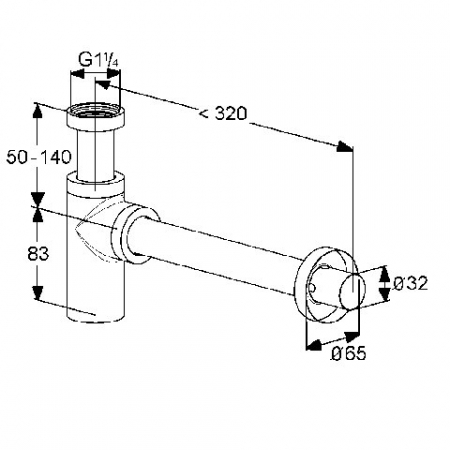 Sifon design KLUDI g 1 1/4 * 32mm1