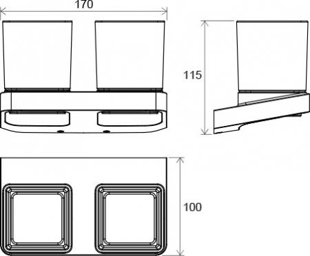 Suport pahar dublu sticla Concept 10┬░ TD 220.00 Ravak [1]