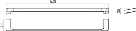 Suport prosop baie Concept 10┬░ TD 310.00 Ravak [1]