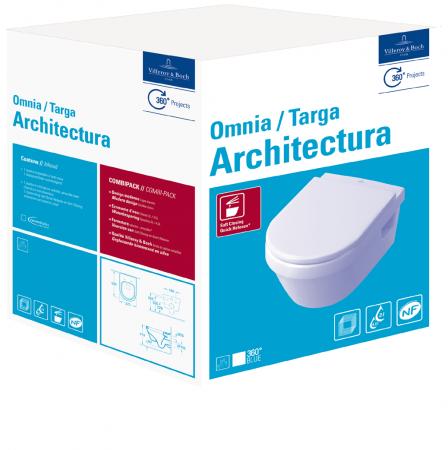 WC Architectura  cu capac 5684H101 VILLEROY&BOCH 0