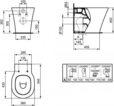 WC stativ Connect Air Ideal Standard E0042011