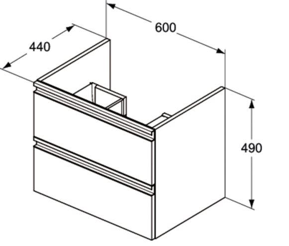 Mobilier suspendat 60 cm Tesi Ideal Standard 1