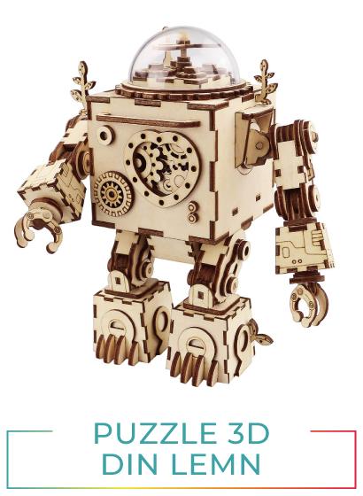 Puzzle 3D din lemn