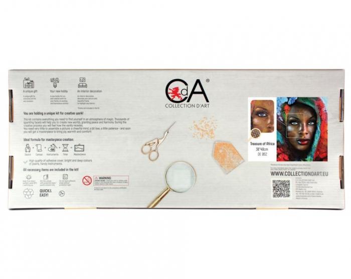 Set goblen cu diamante, fara sasiu, Comoara Africana, 48x38cm [1]