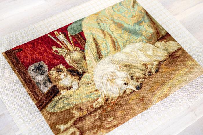 Set goblen, Caine si pisici, 30x23 cm [1]