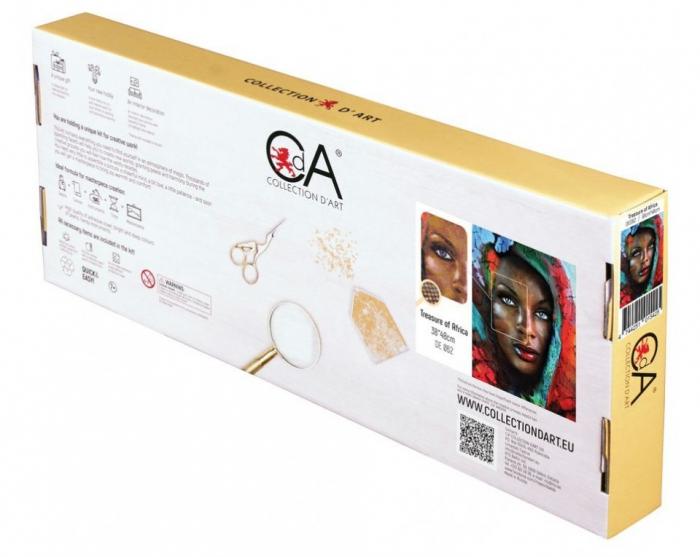 Set goblen cu diamante, fara sasiu, Comoara Africana, 48x38cm [2]