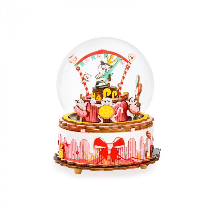 Puzzle 3D Cutie Muzicala, La multi ani, Lemn [0]