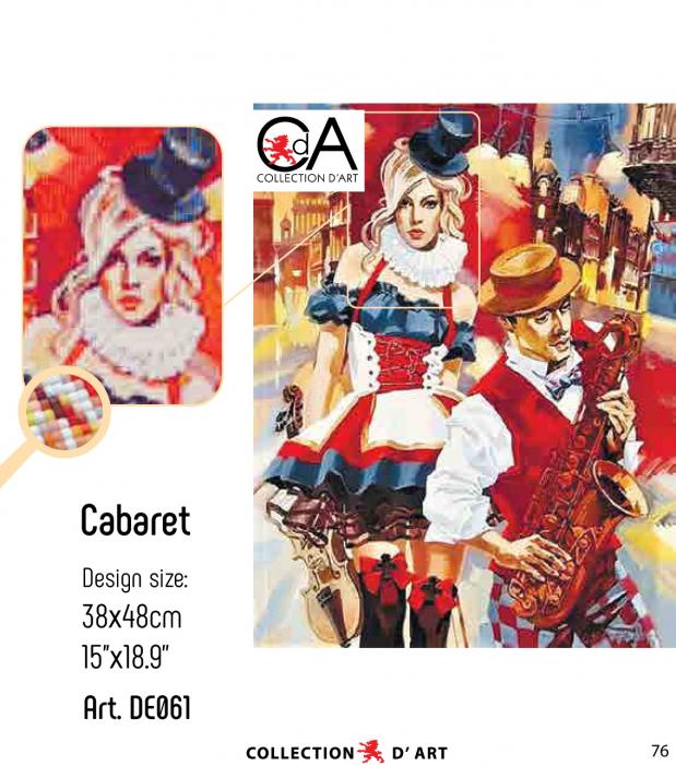 Set goblen cu diamante, fara sasiu, Cabaret, 48x38cm [1]