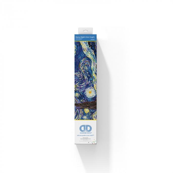 Tablou cu diamante - Noapte instelata (Van Gogh), 41x51cm, fara sasiu [1]