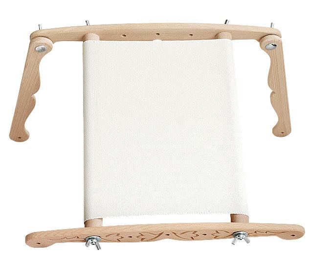 Gherghef reglabil cu suport, 30x30 cm 2