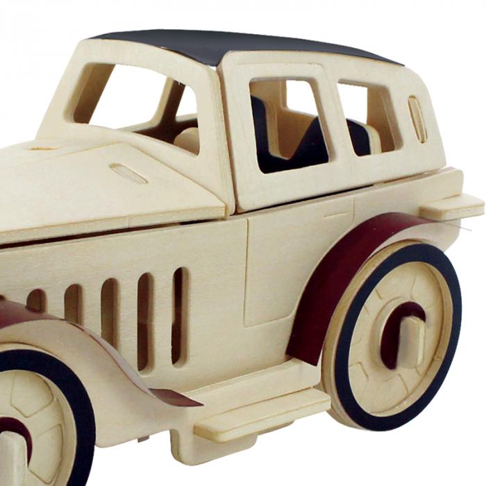 Puzzle 3D din lemn, Masina retro 2, 43 piese [2]