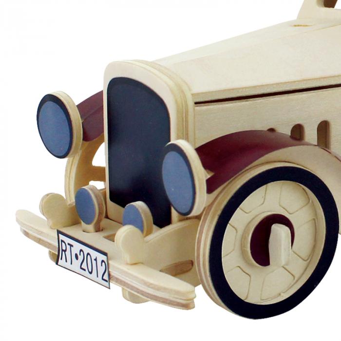 Puzzle 3D din lemn, Masina retro 2, 43 piese [3]