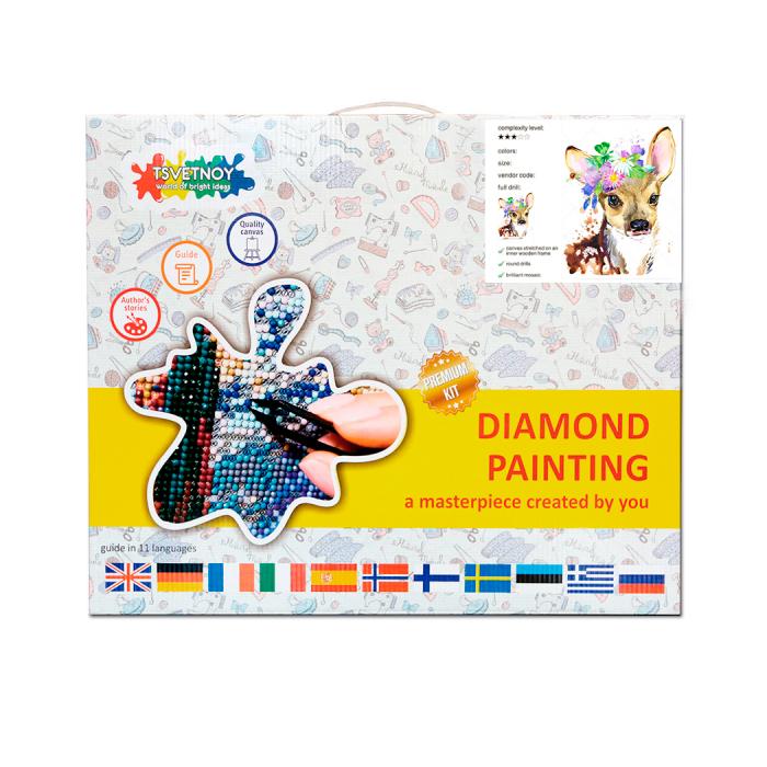 Goblen cu diamante, Caprioara 30x40 cm [5]