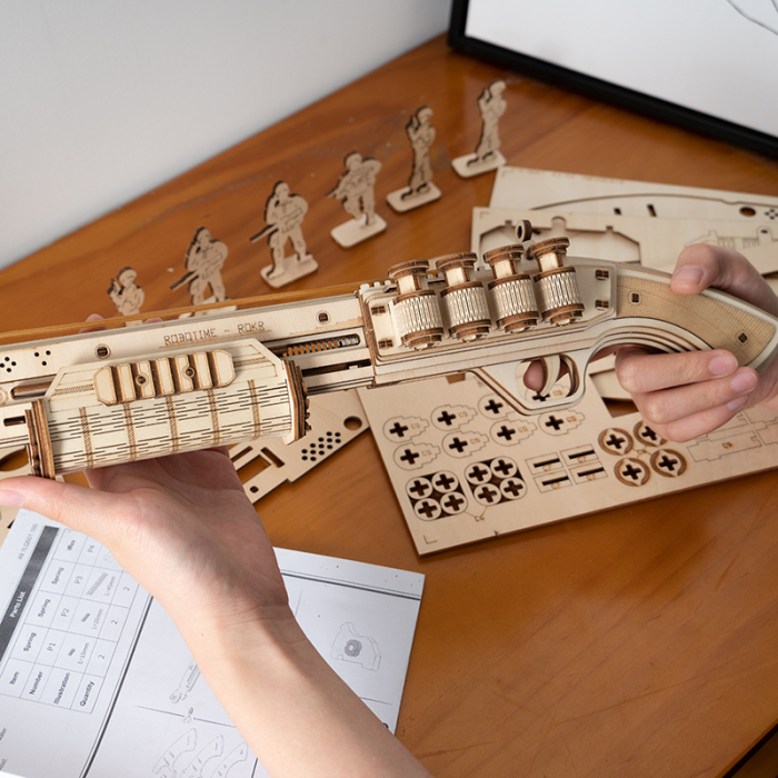 Puzzle 3D, Pusca Terminator M870, Lemn 1
