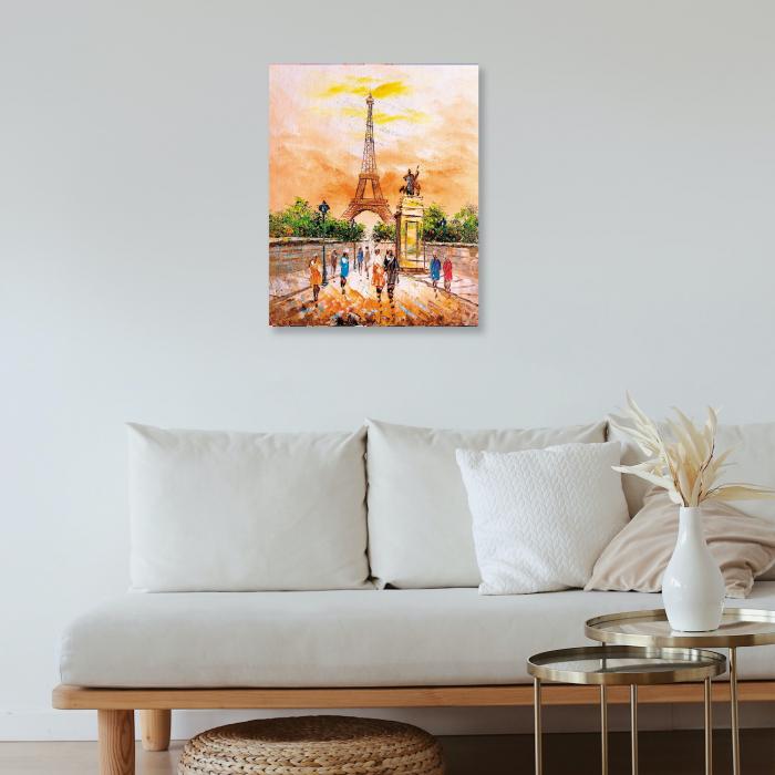 Set pictura pe numere, cu sasiu, Turnul Eiffel 40x50 cm [3]