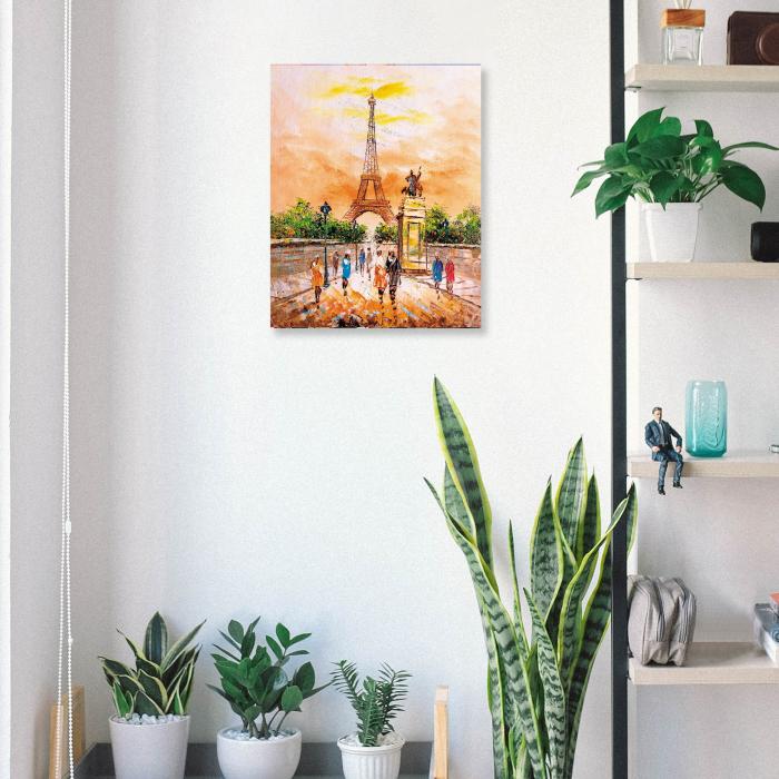 Set pictura pe numere, cu sasiu, Turnul Eiffel 40x50 cm [4]