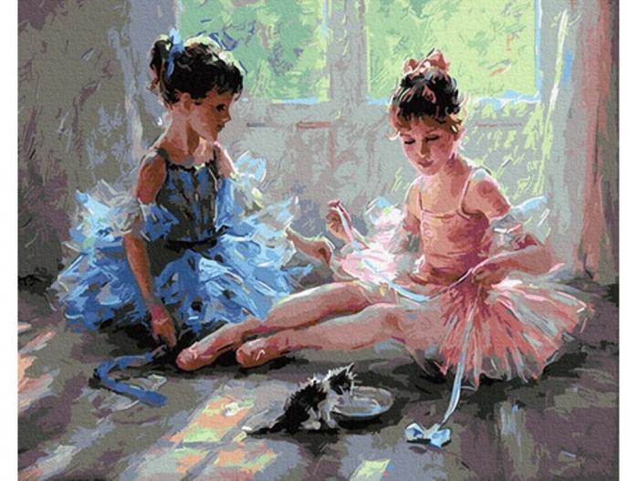 Pictura pe numere, Micutele balerinele 40x50 cm [0]