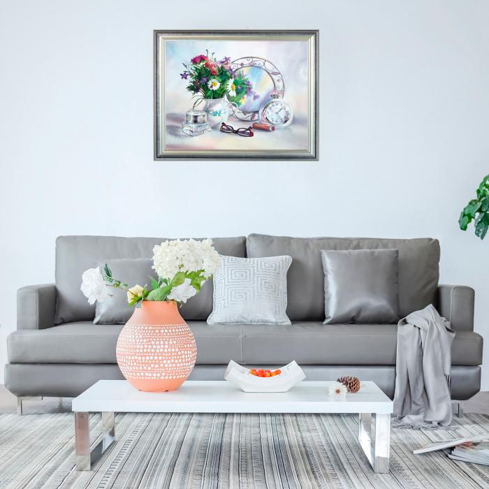 Set pictura pe numere, cu sasiu, Flori 2, 40x50 cm 2