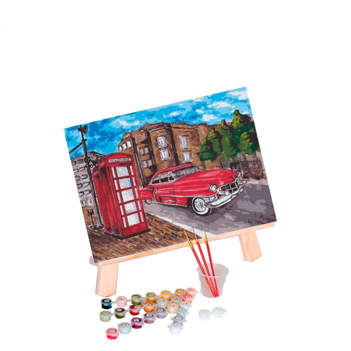 Set pictura pe numere, cu sasiu, Masina, 30x40 cm 0