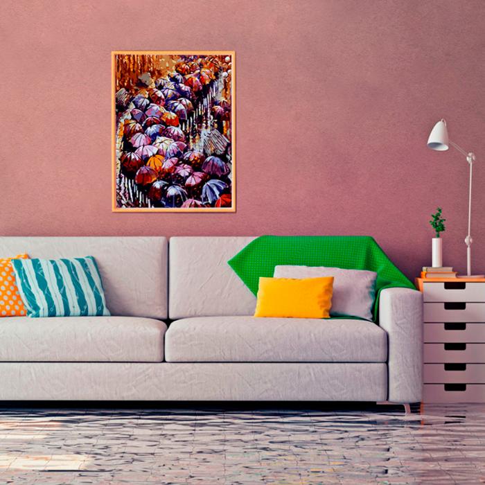 Set pictura pe numere, cu sasiu, Peisaj de toamna 2