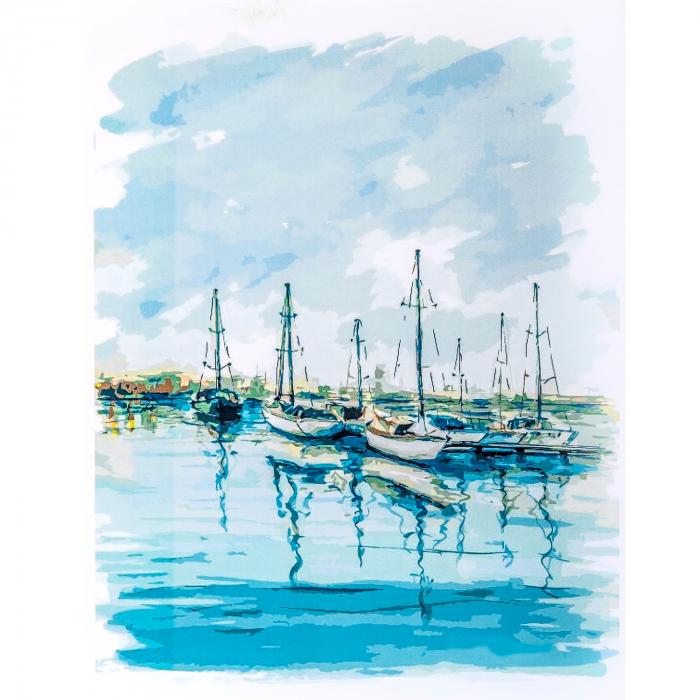 Set pictura pe numere, cu sasiu, Peisaj Maritim [0]