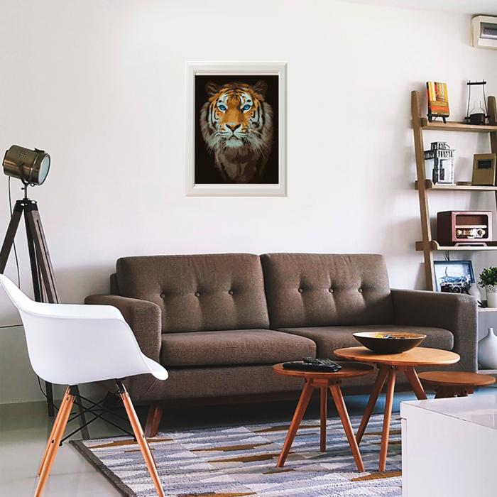 Set pictura pe numere, cu sasiu, Tigru 2