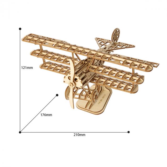 Puzzle 3D Avion, Lemn, 145 piese 3