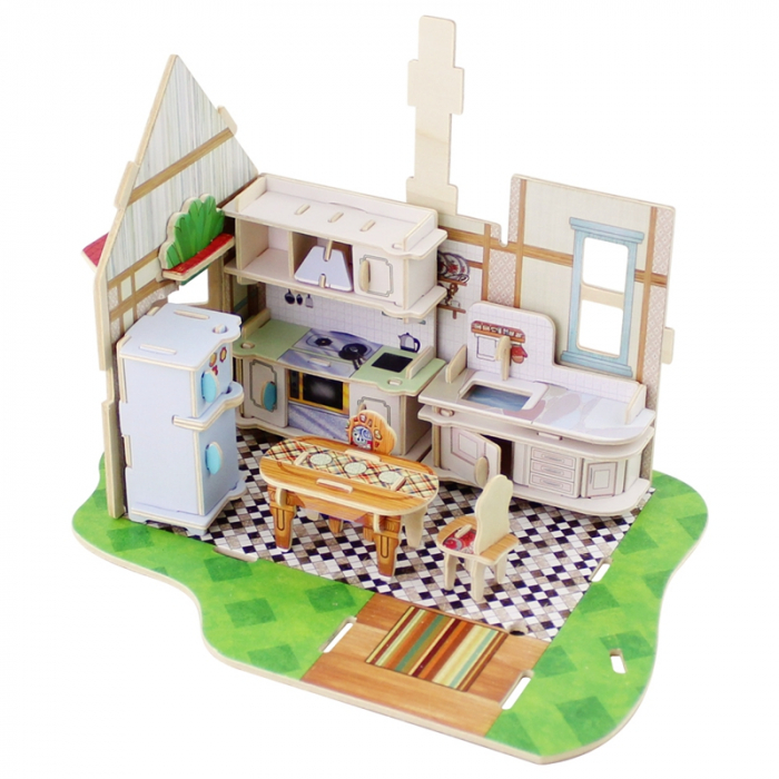 Puzzle 3D, Casuta DIY, Bucatarie, 81 de piese [7]