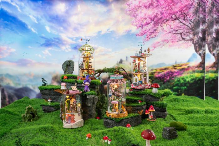 Puzzle 3D, Casuta DIY, Lumea misterioasa - Casuta cu flori 6