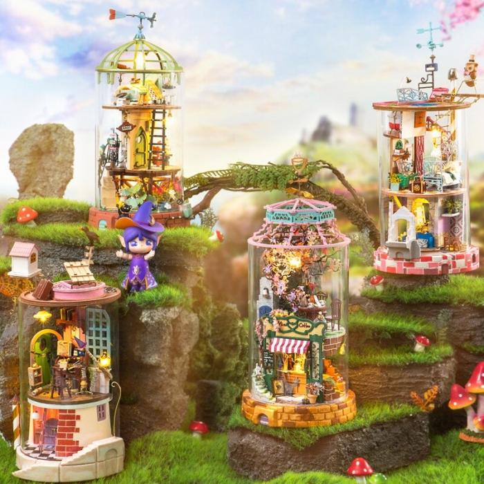 Puzzle 3D, Casuta DIY, Lumea misterioasa - Mansarda cu cupola [1]