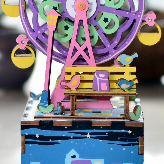 Puzzle 3D Cutie Muzicala, Ferris Wheel, Lemn, 69 de piese 1
