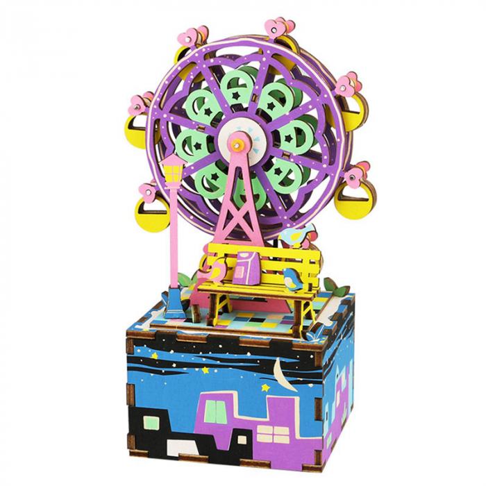 Puzzle 3D Cutie Muzicala, Ferris Wheel, Lemn, 69 de piese 0