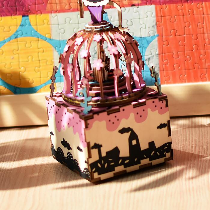 Puzzle 3D Cutie Muzicala, Printesa, Lemn, 118 piese 2