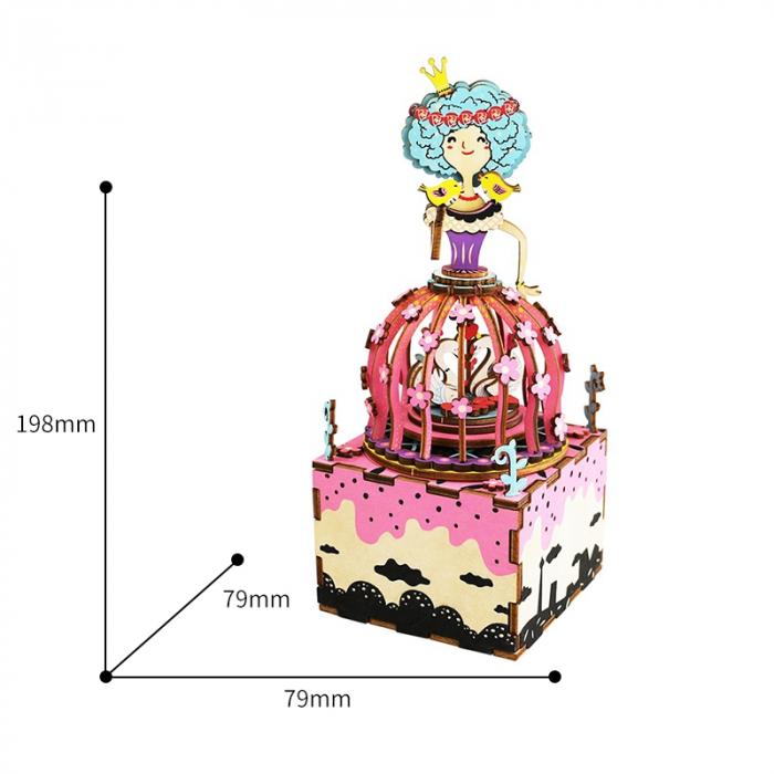 Puzzle 3D Cutie Muzicala, Printesa, Lemn, 118 piese 4