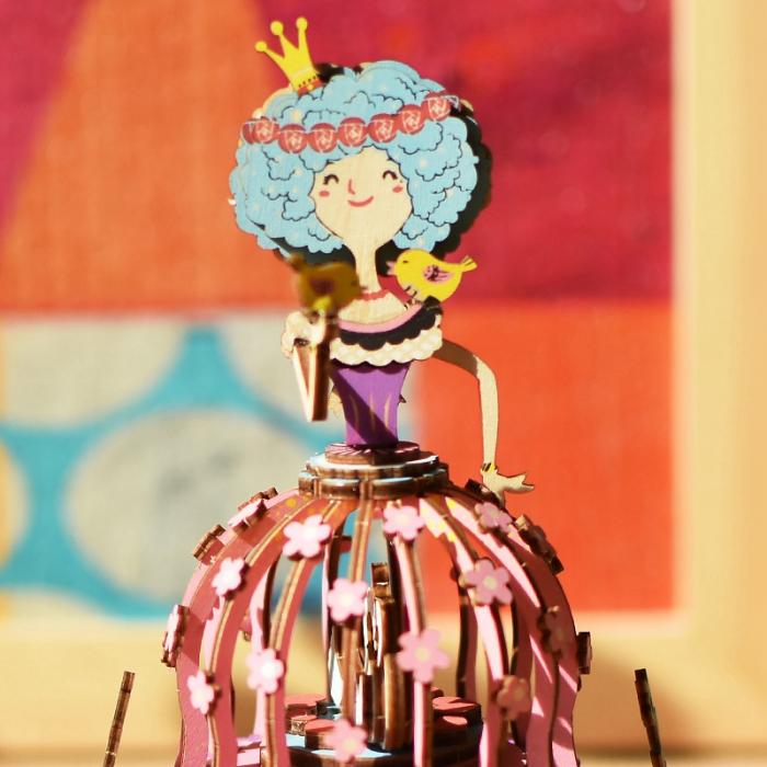 Puzzle 3D Cutie Muzicala, Printesa, Lemn, 118 piese 1