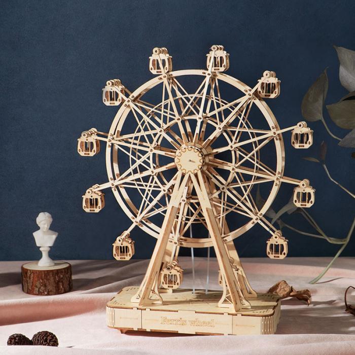 Puzzle 3D Cutie Muzicala, Ferris Wheel XL, Lemn, 232 de piese 1